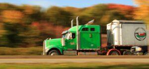 green truck riding