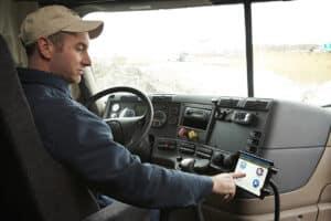 a trucker using eld device