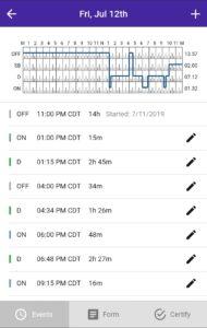 HOS247 driving log app