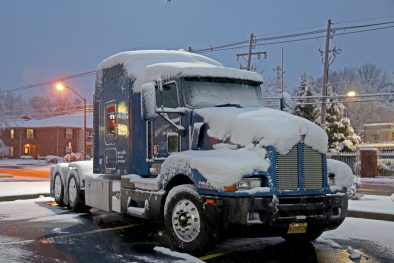 truck in snow