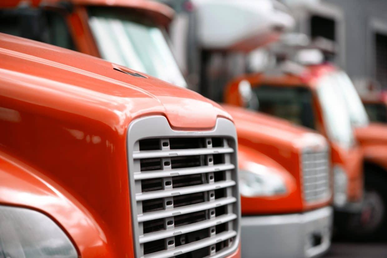 small fleet of trucks