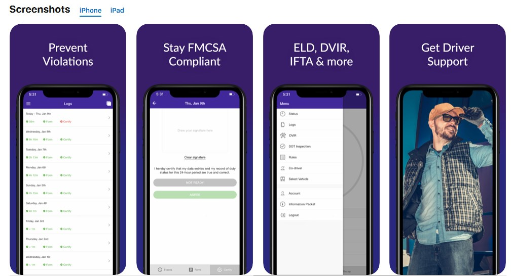 HOS247 eld apps