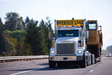 heavy truck on road