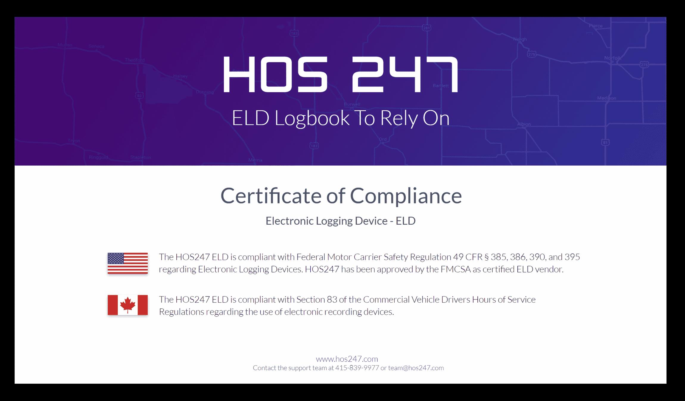 HOS247 certificate