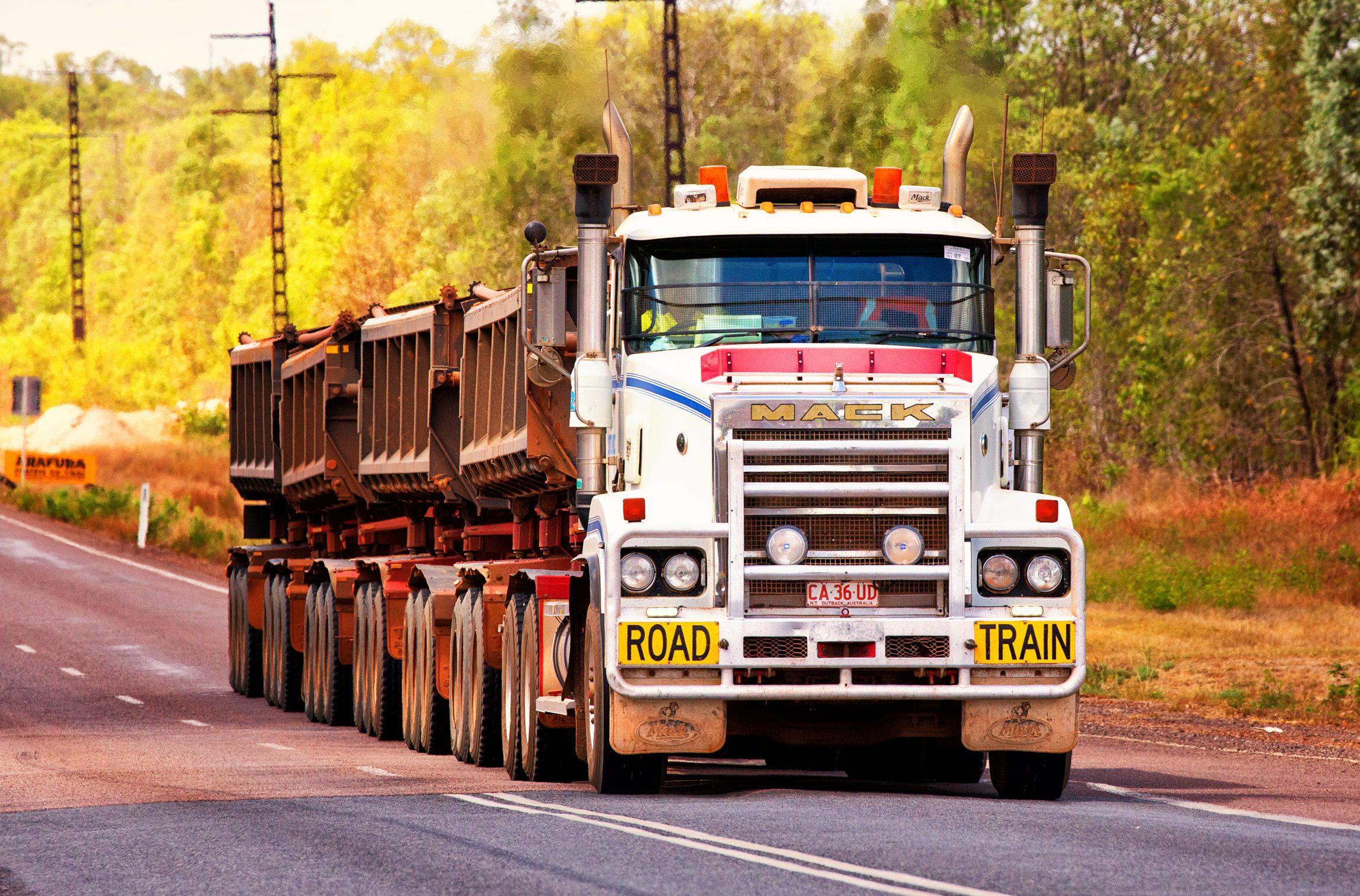big rig on road