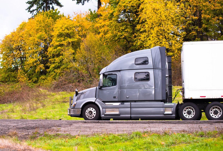 truck in autumn