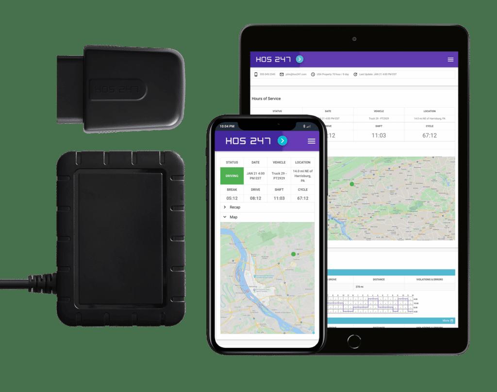 HOS247 fleet tracking system