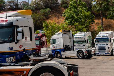 trucks on exposition