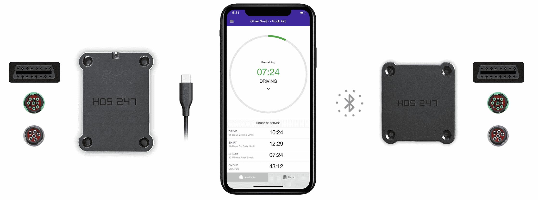 HOS 247 ELD device and app