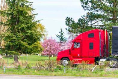 truck in spring