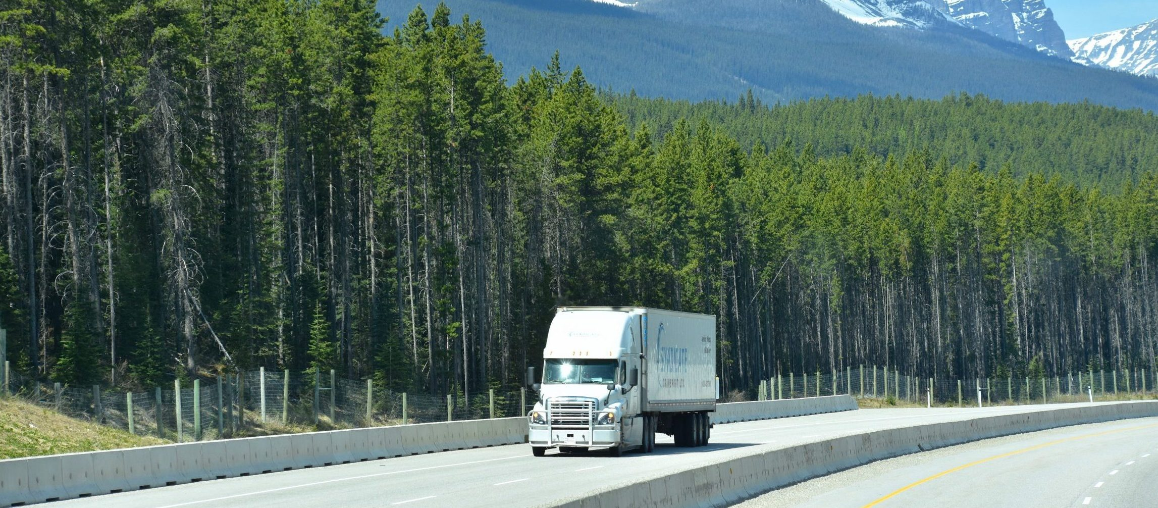 truck on a canadian highway