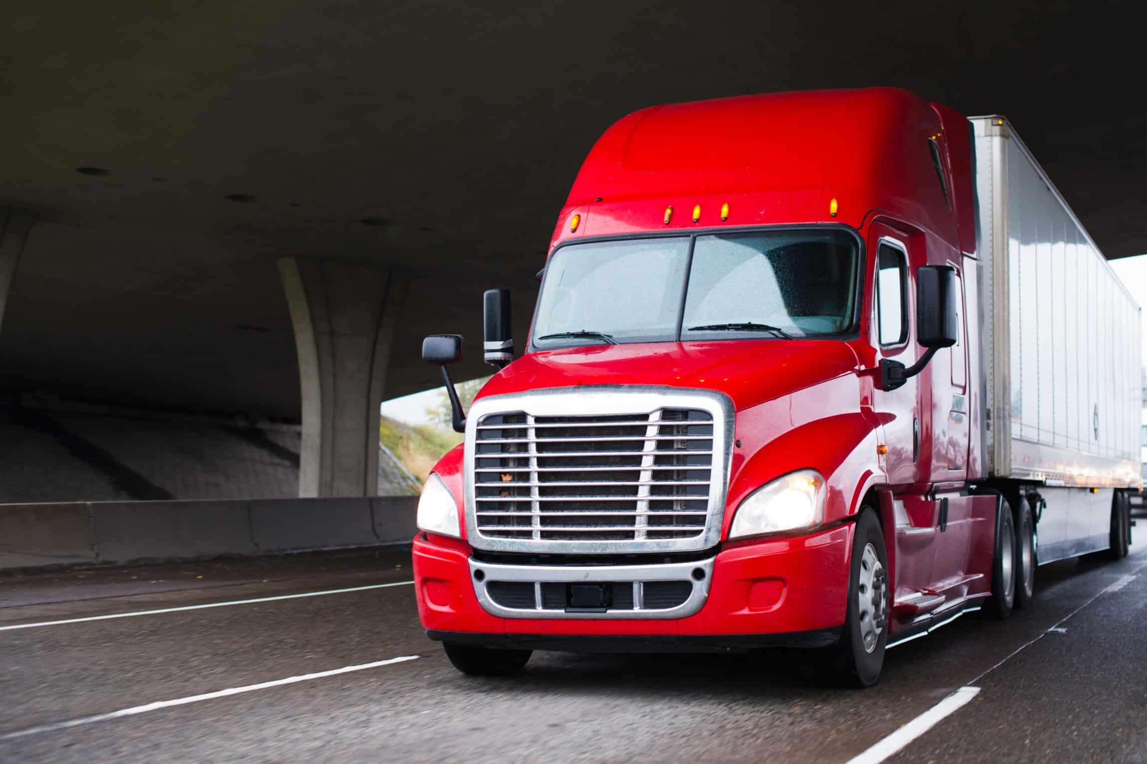 modern big rig semi truck