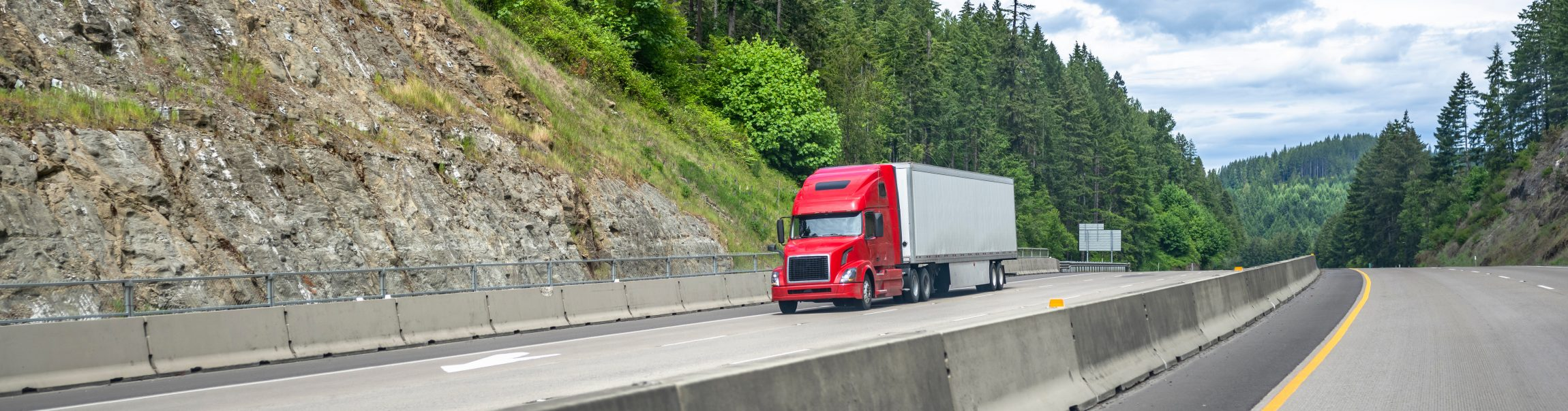 long haul industrial semi truck