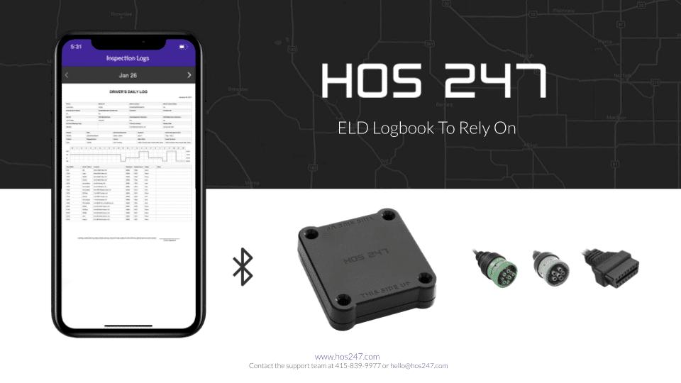 HOS247 ELD device and app